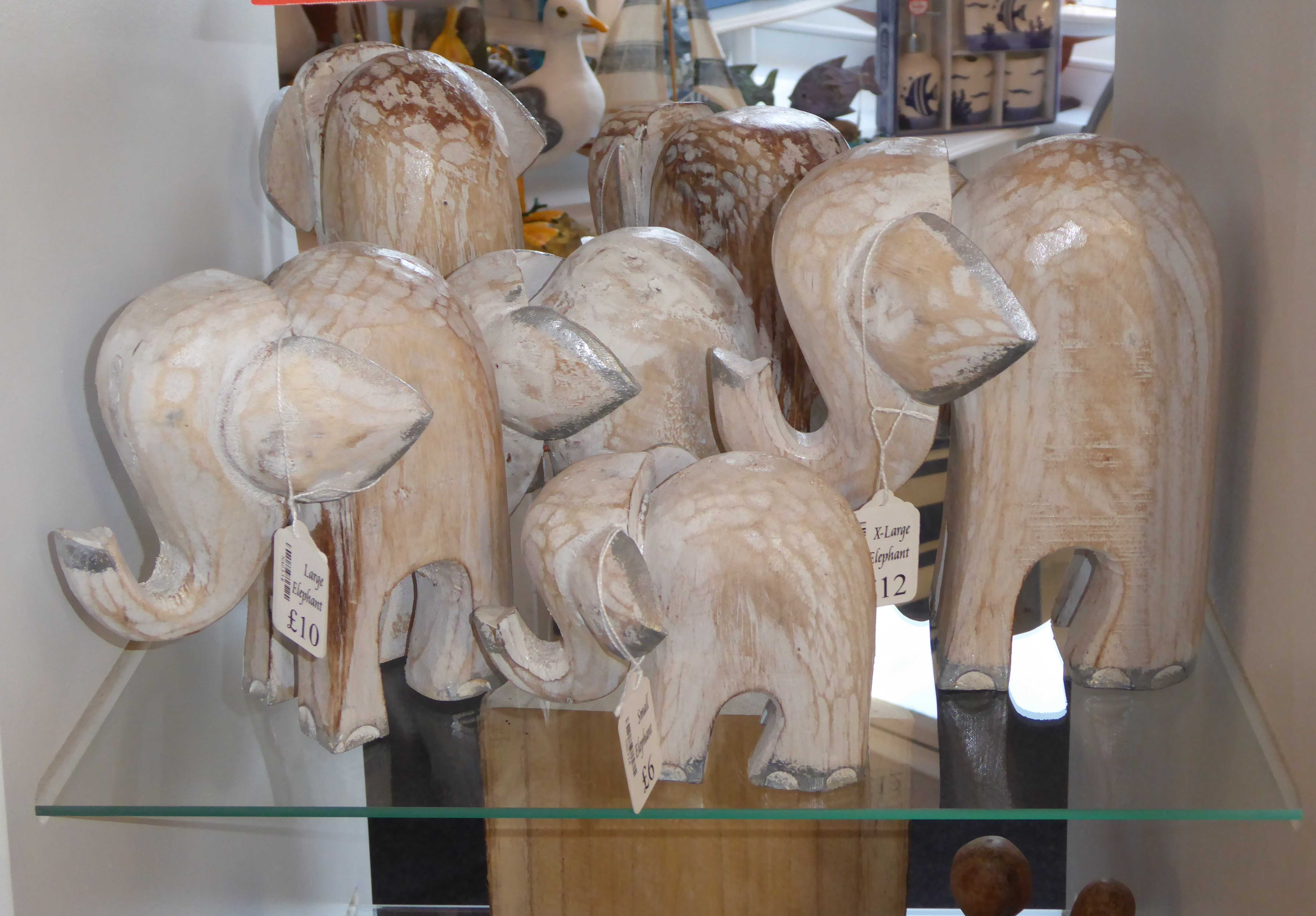 Elephants Wooden Carvings