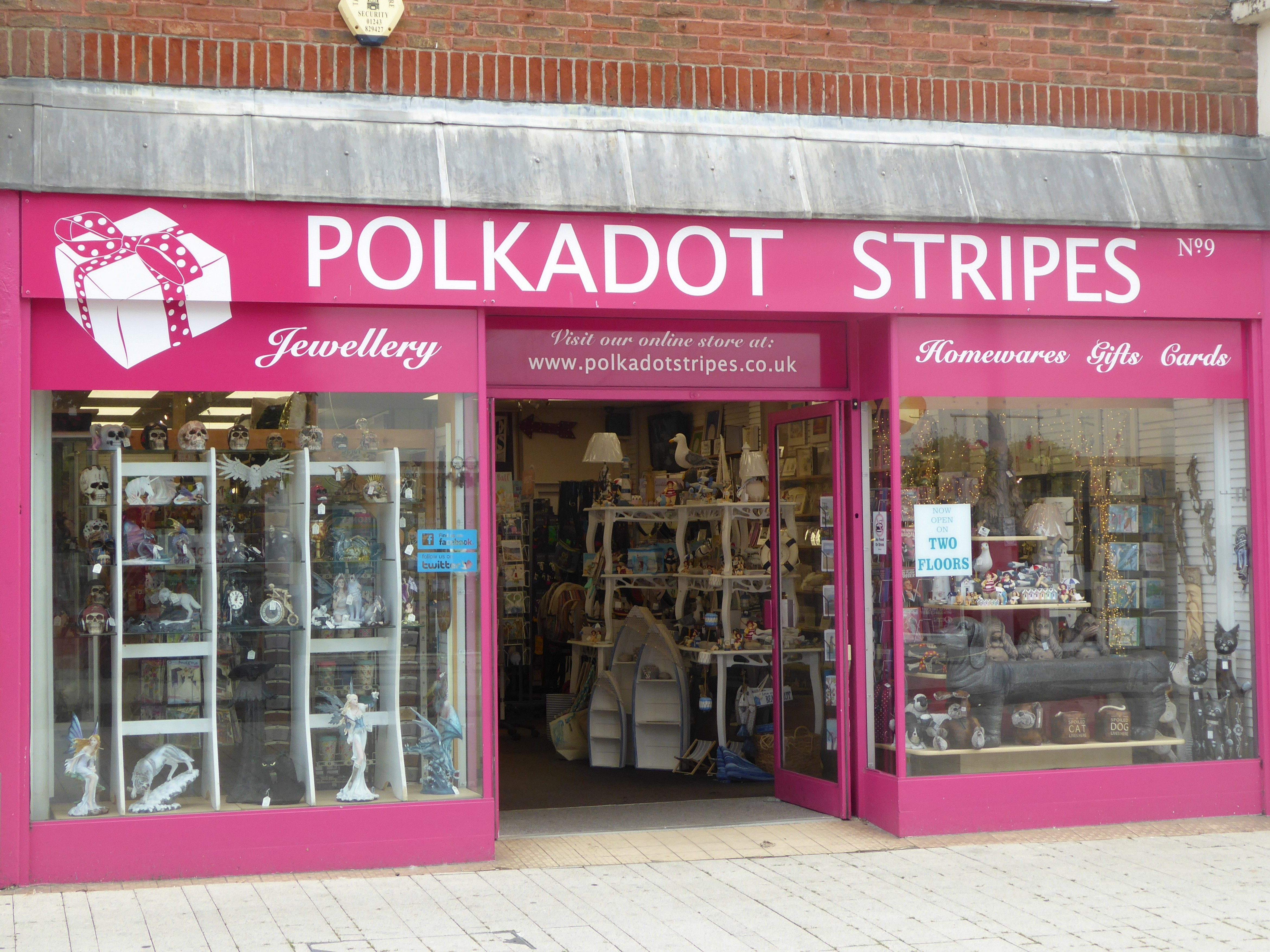 Polkadot Stripes Shop Front August 2019