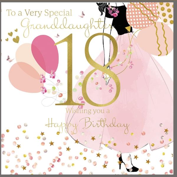 Granddaughter 18th Birthday Card Karten Einladungen