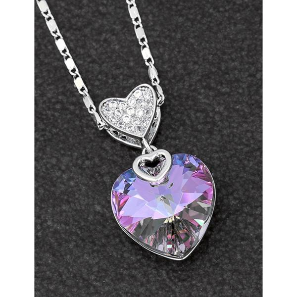 search for original 2019 discount sale various styles Swarovski Crystal Heart Pendant and Chain